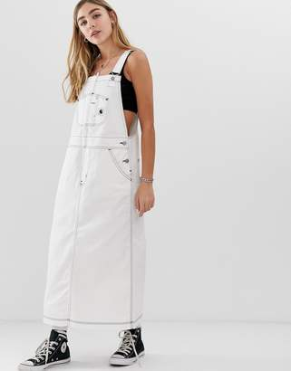 Carhartt Wip WIP relaxed dungaree dress-White