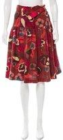 Dries Van Noten Wool Floral Skirt