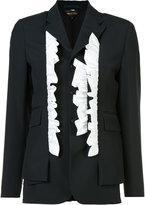 Comme des Garcons frill trim blazer - women - Cotton - S
