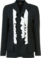 Comme des Garcons frill trim blazer - women - Cotton - XS