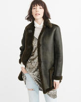 Abercrombie & Fitch Faux Shearling Coat