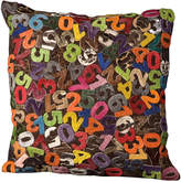 Nourison Leather Hide Numbers Throw Pillow