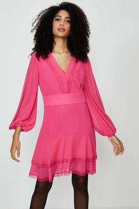 Coast Plain Long Sleeve Mini Dress