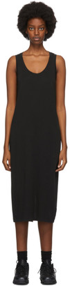 John Elliott Black High Twist Mid-Length Dress
