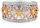Effy Jewelry Effy 18K White and Yellow Gold Diamond Filigree Ring, 0.62 TCW