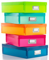 Whitmor Document Boxes, Set of 5