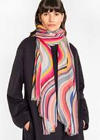 Paul Smith Women's Multi-Colour 'Swirl' Cashmere-Blend Scarf