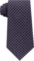 Michael Kors Men's Gingham Solid Tail Silk Tie