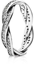 Pandora Ring - Sterling Silver & Cubic Zirconia Twist of Fate