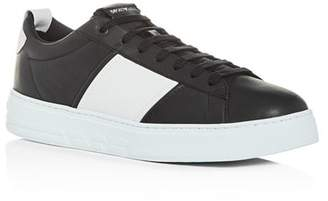 Giorgio Armani Men's Leather Low-Top Sneakers