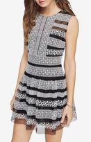 BCBGMAXAZRIA Kirsi Embroidered Dress