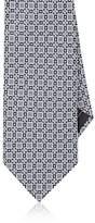 Brioni Men's Medallion-Pattern Silk Jacquard Necktie