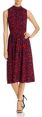Leota Mindy Shirred Midi Dress