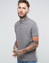 Armani Jeans Polo Shirt With Logo Regular Fit In Grey