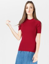 Carven Red High Neck Pullover Sweater