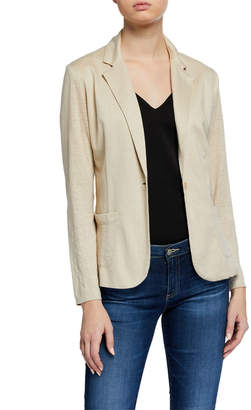 Majestic Filatures Stretch Linen One-Button Blazer