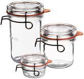 Luigi Bormioli Luigi BormioliTM Lock-Eat Glass Canning Jar with Removable Lid