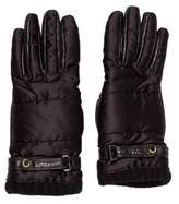 Burberry Wool-Trimmed Leather Gloves