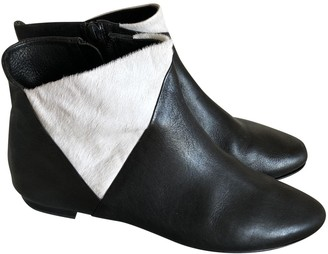 AERIN Black Leather Ankle boots