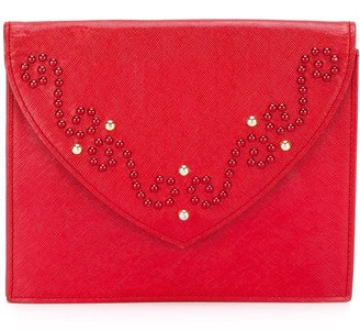 Saint Laurent Pre-Owned studded clutch