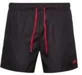 Hugo Quick-dry swim shorts with rubber logo badge