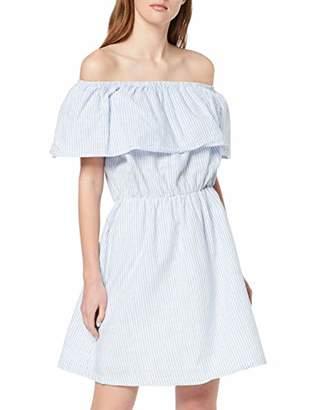 Ichi Women's Ihgry Dr3 Dress, (Della Robbia Blue Stripe 14554), Large