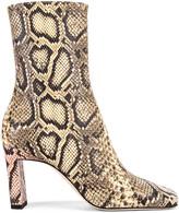 Wandler Isa Boots in Mustard & Python | FWRD