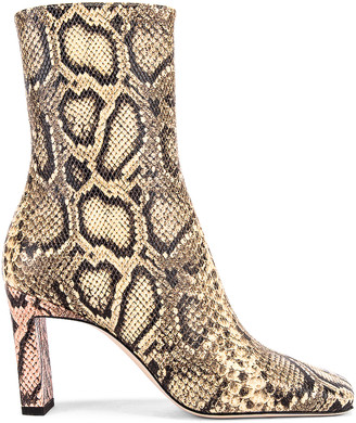 Wandler Isa Boots in Mustard & Python   FWRD