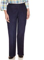 Alfred Dunner Woven Flat Front Pants-Plus
