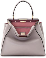 Fendi Peekaboo Medium Bicolor Tote Bag, Light Gray/Soft Pink