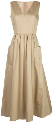 Co Flared Sleeveless Dress