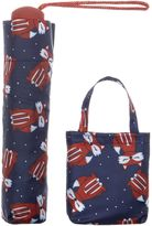 totes Fox Print Umbrella with Shopper