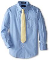 Nautica Long Sleeve Poplin Shirt/Tie Set (Big Kids)