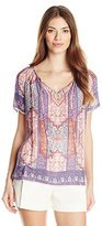 Lucky Brand Women's Tapestry Print Top