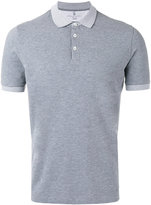 Brunello Cucinelli panelled polo shirt - men - Cotton - L