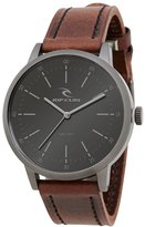 Rip Curl Men's Drake Leather Analog Watch A2793-gun