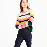 J.Crew Pop-stripe Italian cashmere sweater