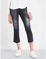 7 For All Mankind Slim-fit skinny flared high-rise jeans