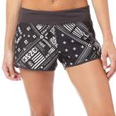 Reebok Womens One Series Speedwick All Over Print Shorts Coal
