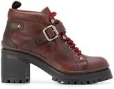 Miu Miu chunky lace-up boots