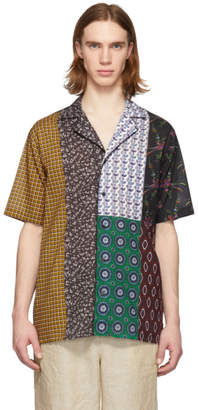 Stella McCartney Multicolor Patchwork Short Sleeve Shirt