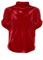 Etoile Isabel Marant Link high-neck ruched velvet top