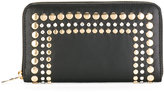 Sonia Rykiel gold-tone stud embellished wallet - women - Sheep Skin/Shearling/Metal (Other) - One Size