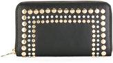 Sonia Rykiel gold-tone stud embellished wallet