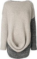 Pringle drape front jumper
