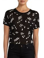 Saint Laurent Music Note Cotton Tee