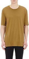 Maison Margiela Men's Silk Jersey Short-Sleeve T-Shirt-BEIGE, DARK GREEN