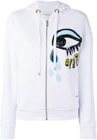Iceberg sequins eye zip up hoodie