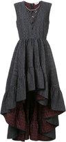 Fendi Cloqué mini-maxi dress