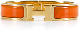 Hermes Juicy Orange Enamel Gold Narrow Clic Clac PM Bracelet